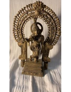 statue en bronze de krishna...