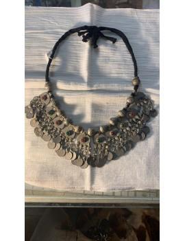 collier ancien Afghan & perles de verres