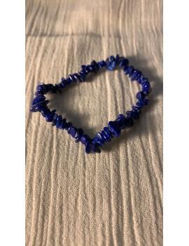 bracelet en pierres semi précieuses lapis Lazuli