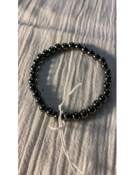bracelet en pierres semi précieuses Hematite