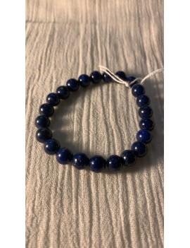 bracelet en pierres semi précieuses oeil de tigre teinté bleue