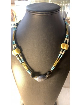 Collier afghan lapis...