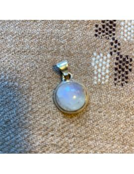 pendentif en argent & pierre de lune (inde)