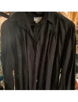 chemise noir en coton pour...