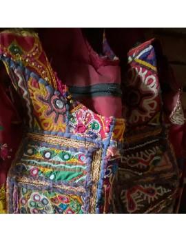 sac ancien tissu & miroir...